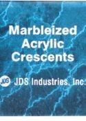 5 X 7 Blue Marbleized Acrylic Crescent